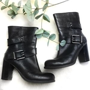 Nine West Black Cyclone Heeled Ankle Boots